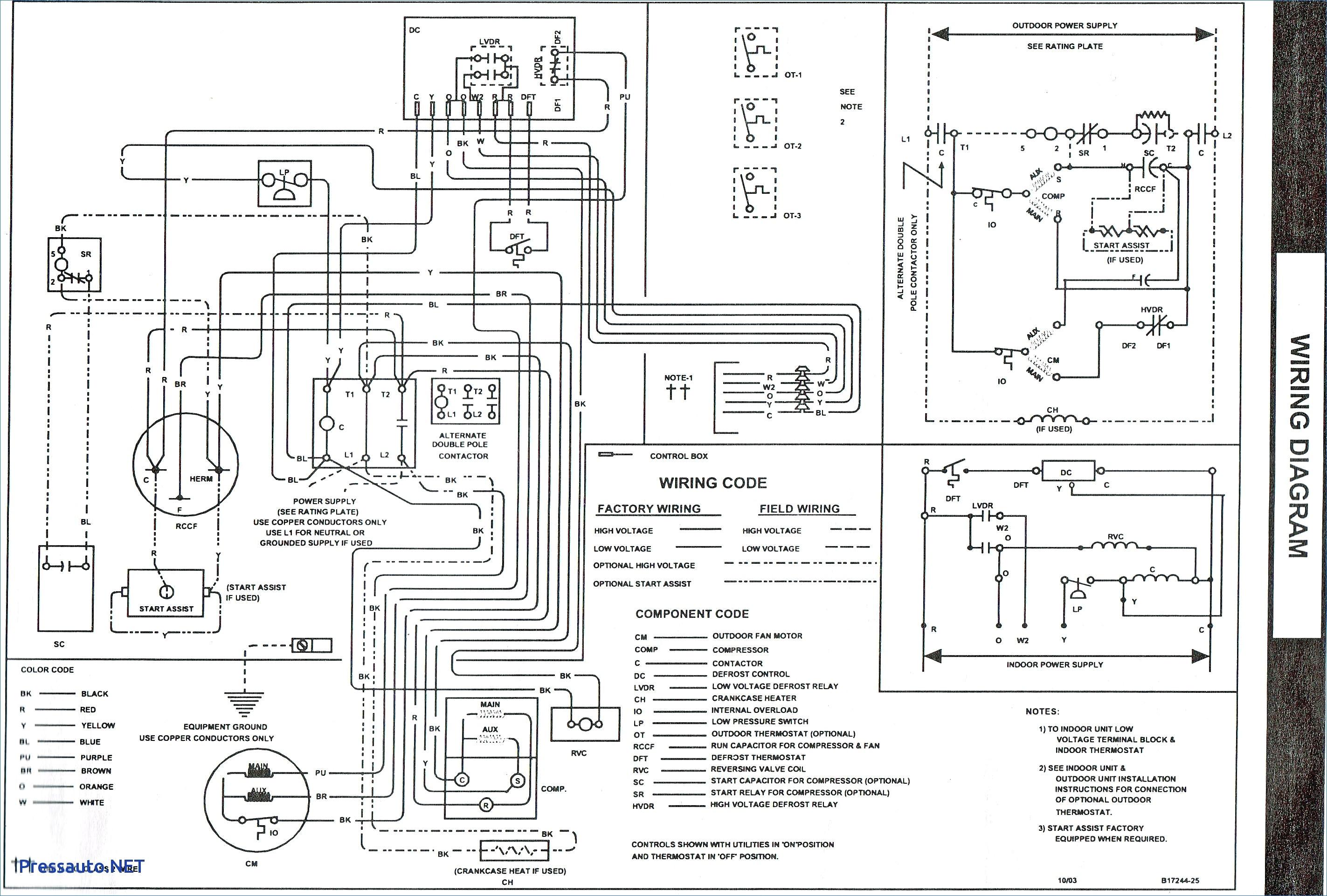 goodman hkr 10 wiring diagram Download-Goodman Furnace Wiring Diagram B2network Co 2-t