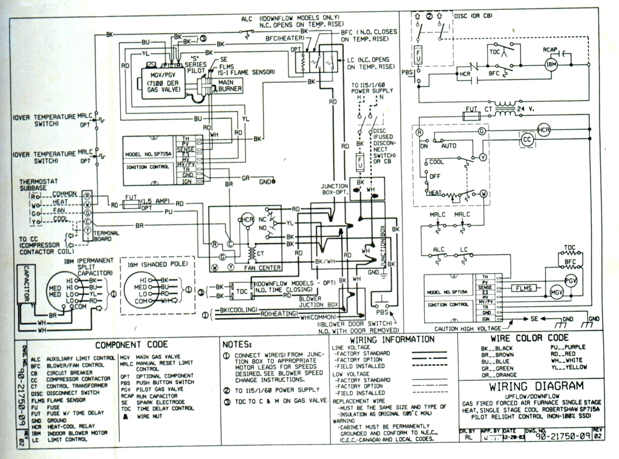 goodman heat pump low voltage wiring diagram sample