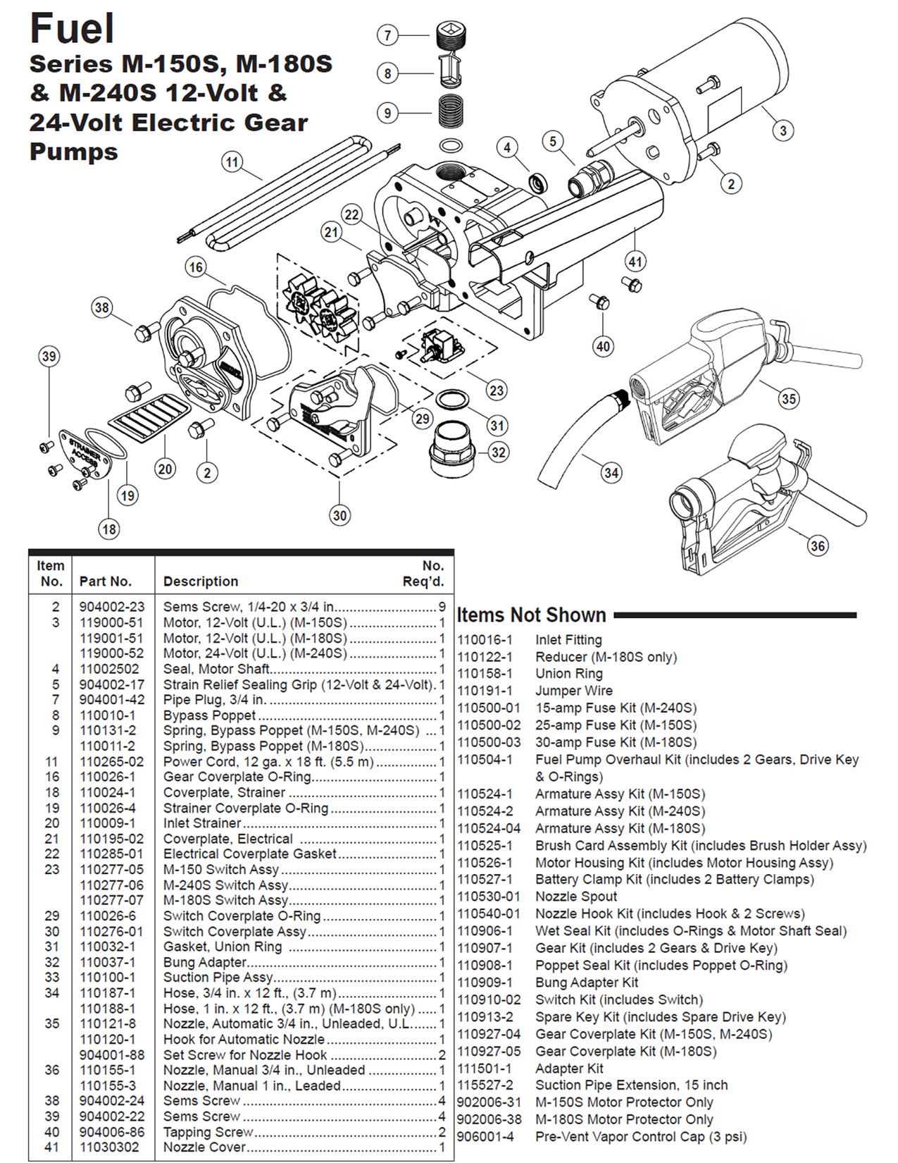 gpi fuel pump wiring diagram Collection-Gpi 12v Economy Model Fuel Pump Parts List Diagram Tuthill Transfer Wiring Diagram Full 1-i