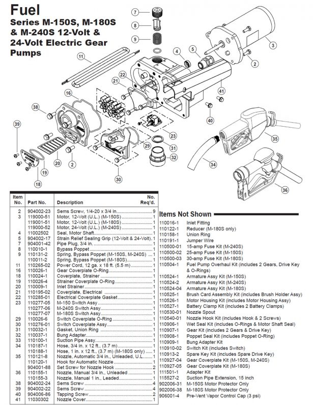 gpi fuel pump wiring diagram Collection-Gpi 12v Economy Model Fuel Pump Parts List Diagram Tuthill Transfer Wiring Diagram Medium 6-r