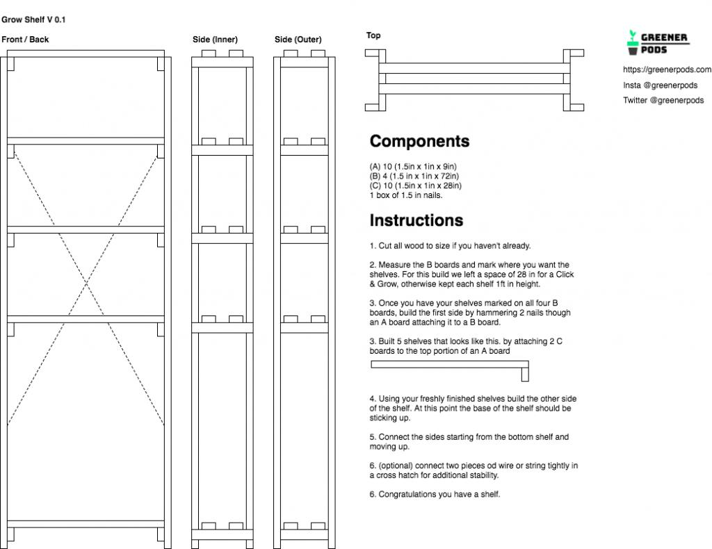 grow room wiring diagram Download-Greener Pods Gros Shelf Diagram 2-p