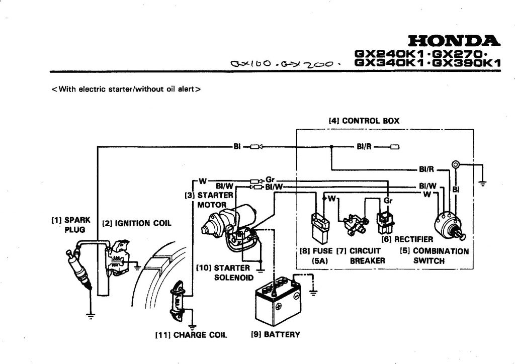 Honda Gx160 Electric Start Wiring Diagram - Parts Diagram Besides Honda Gx160 Electric Start Engine Wiring 3n