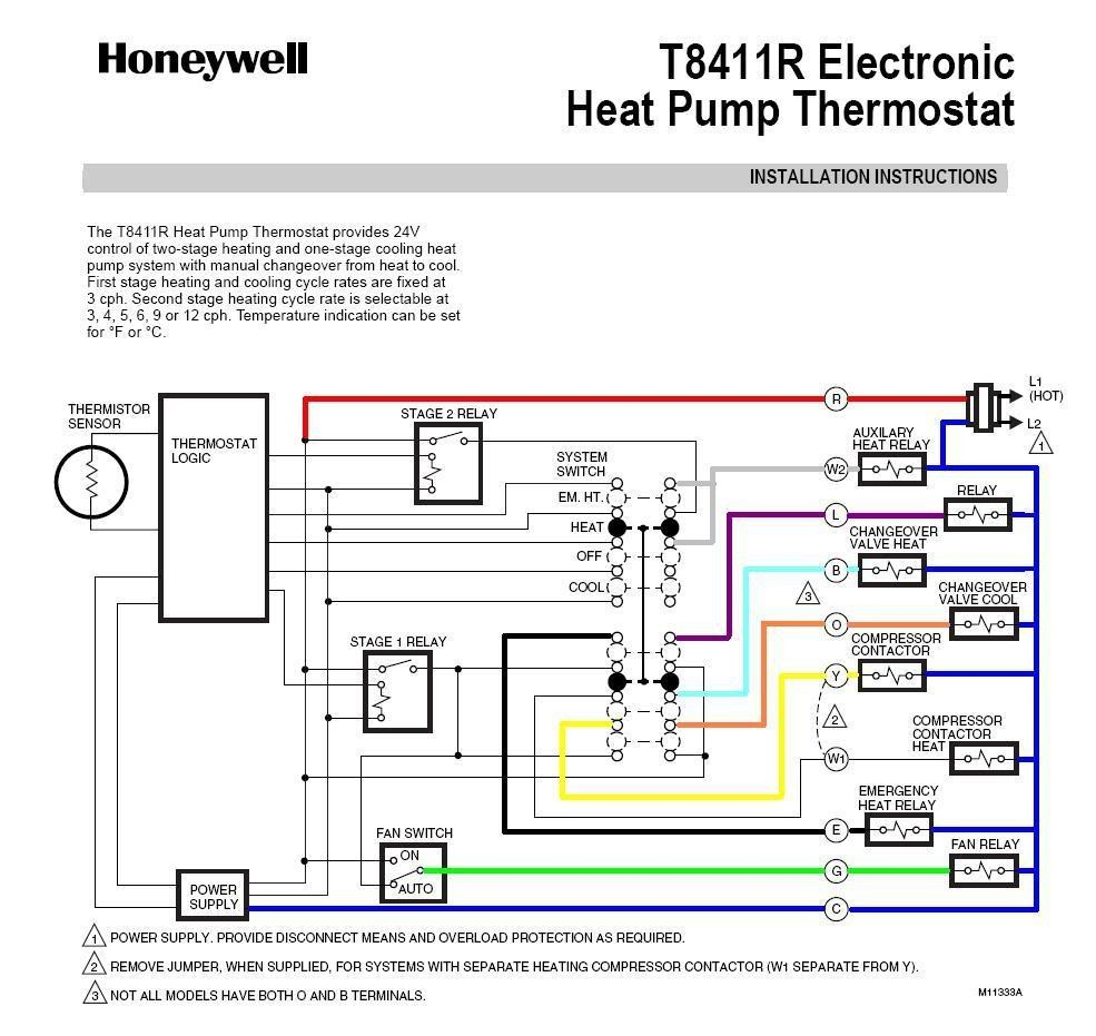 Honeywell Heat Pump thermostat Wiring Diagram - Honeywell Heat Pump thermostat Wiring Diagram Fitfathers Me Remarkable A 13r