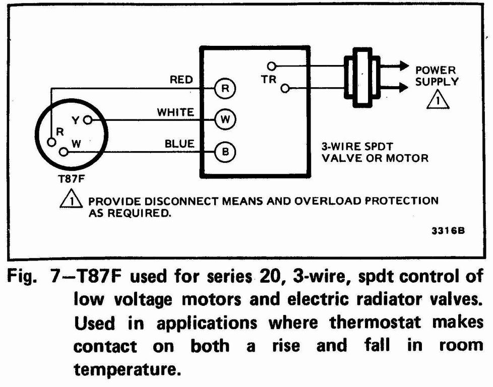Honeywell Thermostat Wiring Diagram 3 Wire Sample Wiring