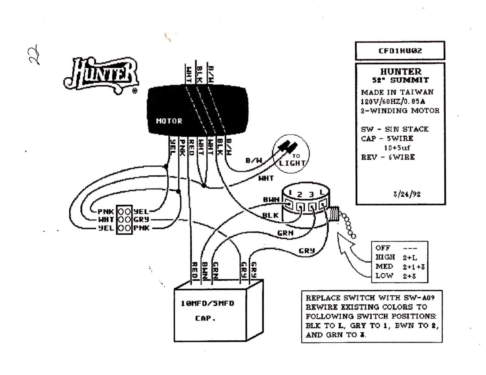 hunter fan switch wiring diagram collection