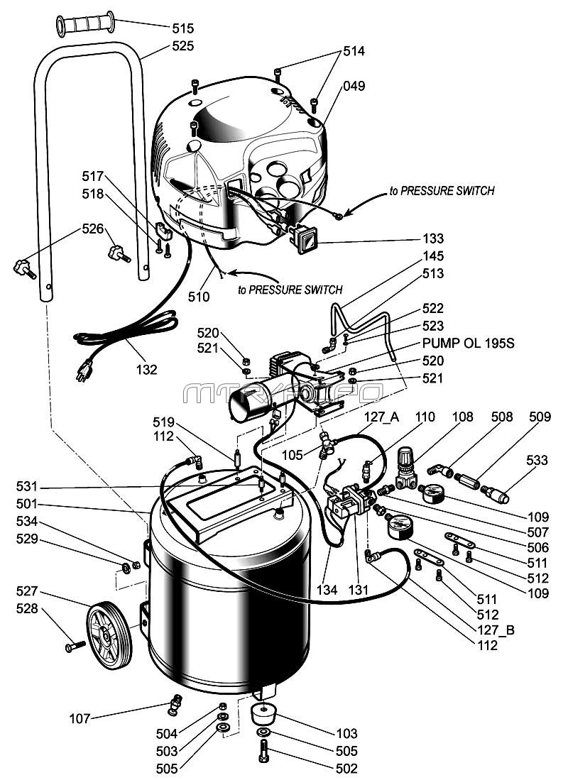 Husky Air Compressor Motor Wiring Diagram - Online Schematic Diagram •