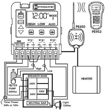 intermatic pool timer wiring diagram Collection-Mode 2 – Pump High Pump Low Aux3 10-k