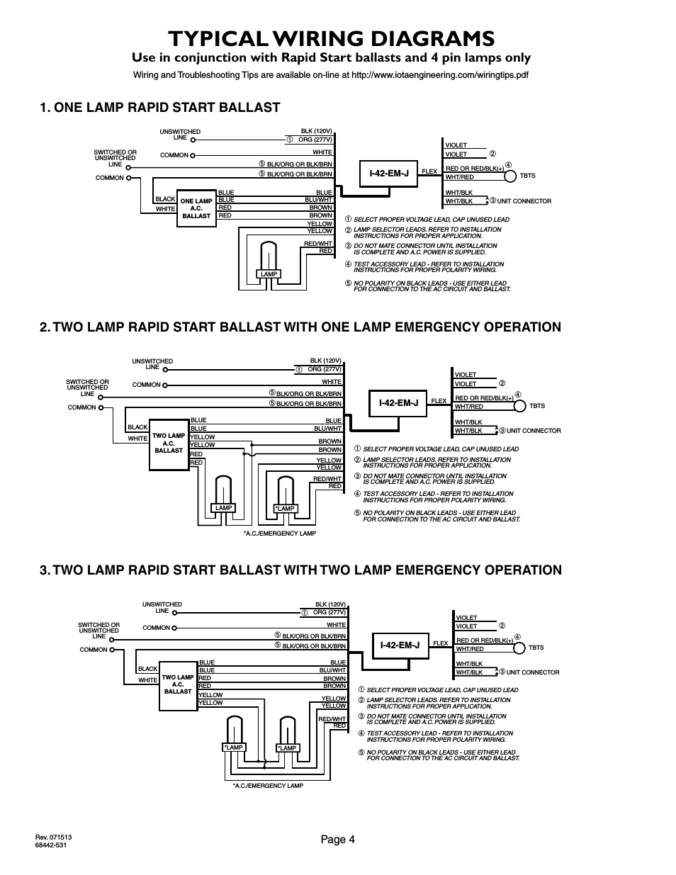 Emergency Ballast Wiring Diagram For Two | Wiring Liry on