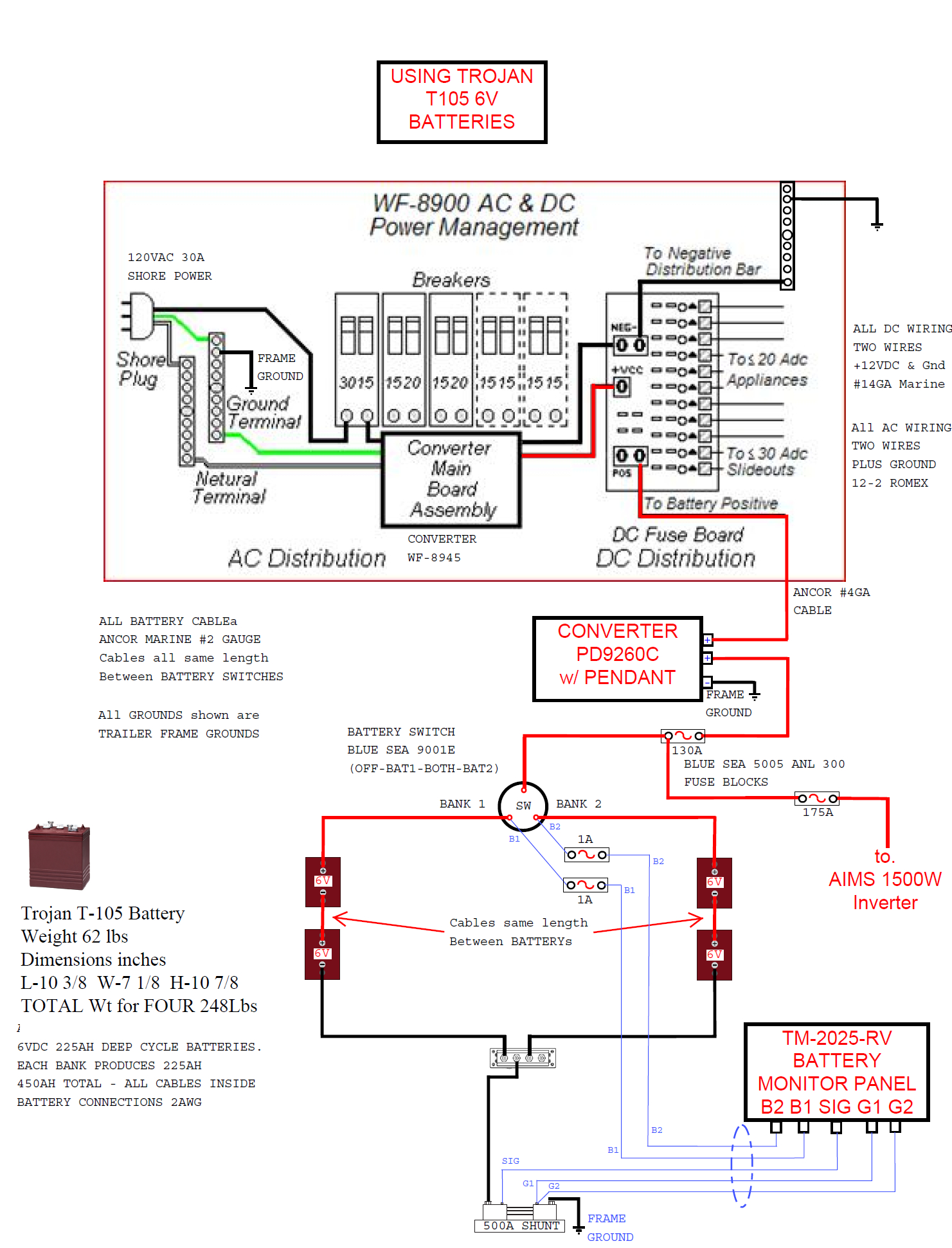 Trailer Wiring Diagram 6v Battery Services Batteries In Series Wire Center U2022 Rh Florianvl Co Isolator Two
