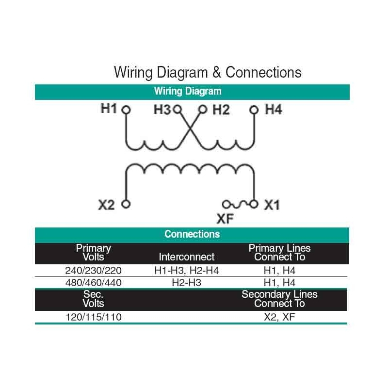 Jefferson Electric Transformer Wiring Diagram - Jefferson 631 1601 000 480v to 120v Transformer Wiring Diagram 3a