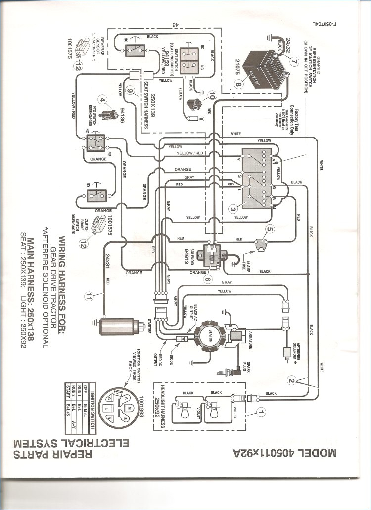 john deere lawn mower wiring diagram gallery