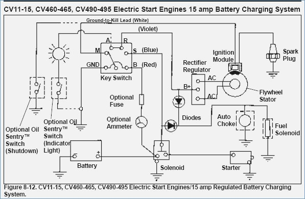 Kohler Cv16s Wiring Diagram Sample | Wiring Diagram Sample on