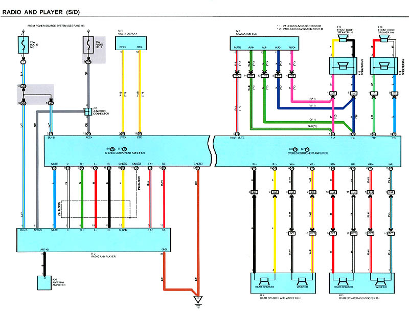 Lexus Stereo Wiring Diagram Collection | Wiring Diagram Sample