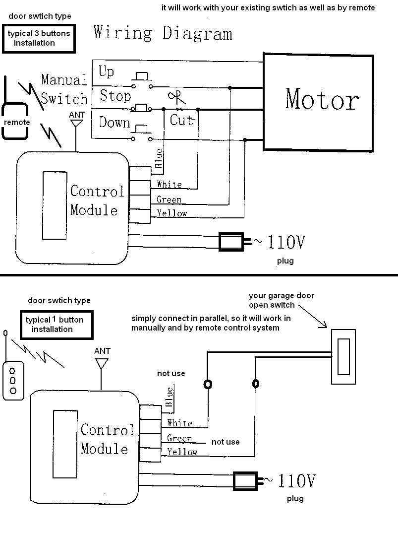 garage door opener wiring diagram for westinghouse