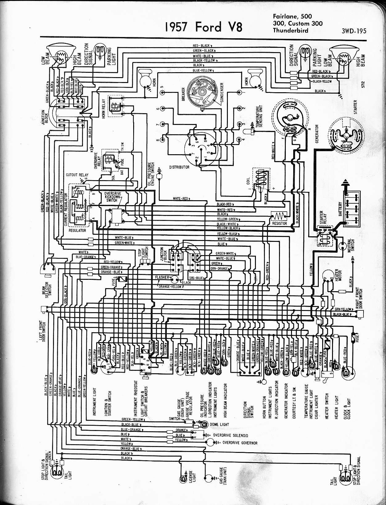 lincoln sae 300 wiring diagram Collection-1957 Thunderbird 20-g