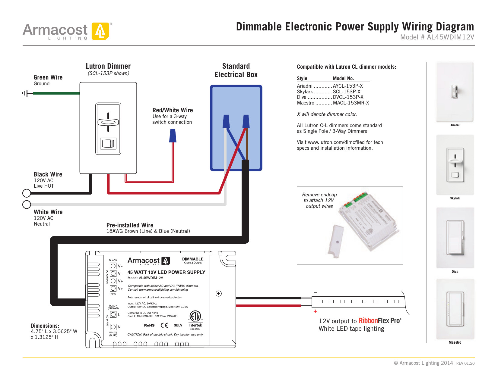 lutron maestro led dimmer wiring diagram collection