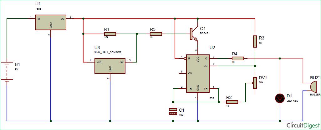 magnetic door switch wiring diagram Collection-Magnetic Door Alarm Circuit Diagram 1-a