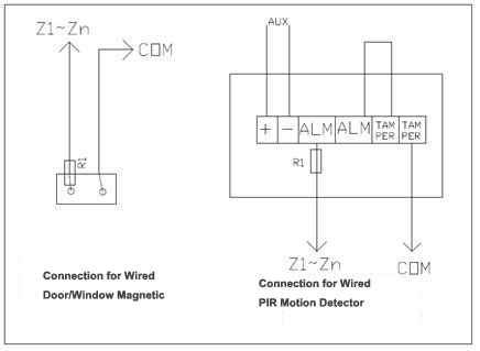 magnetic door switch wiring diagram Collection-Wired Connection For Wired Detectors 20-q