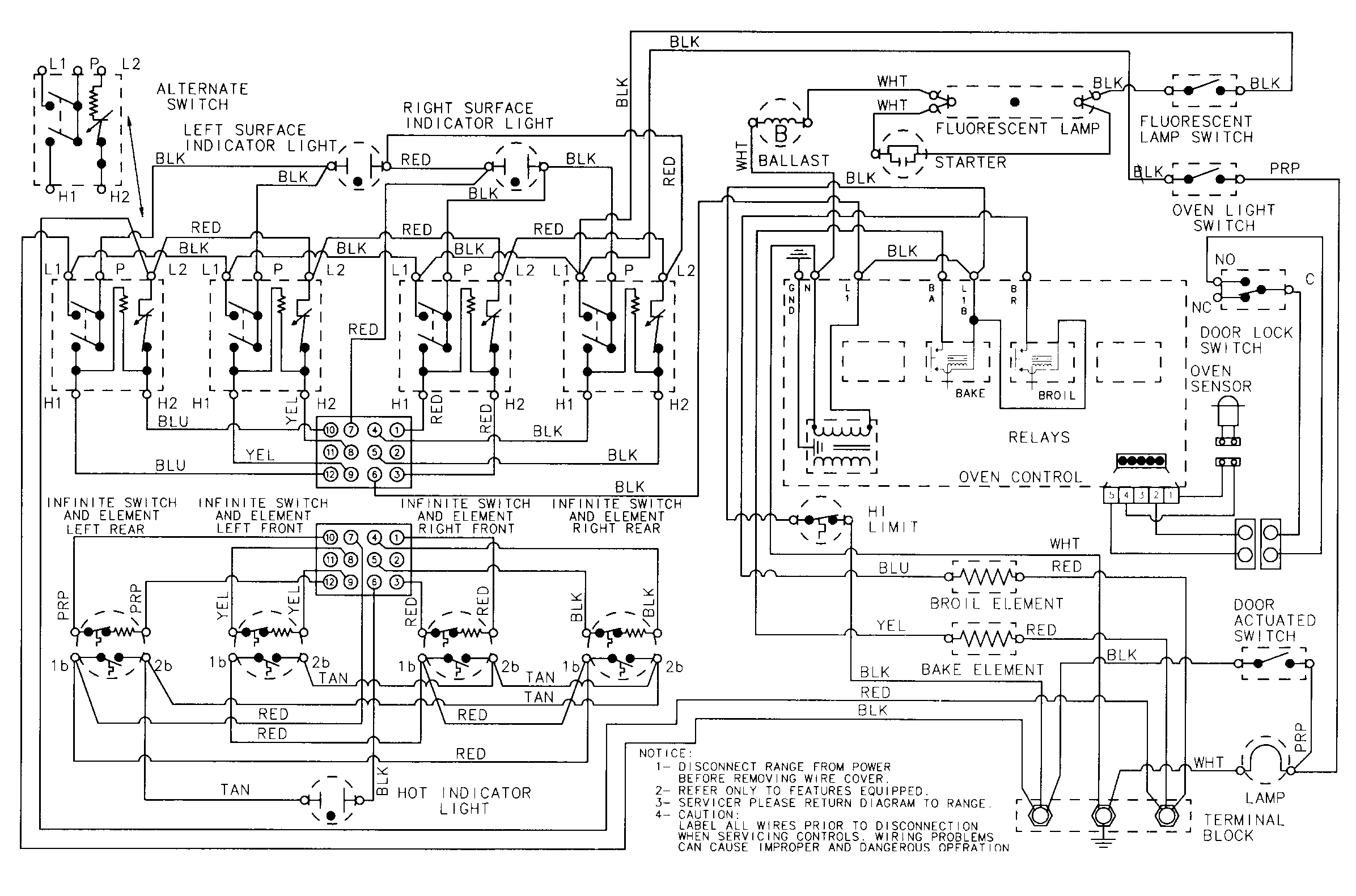 maytag washer wiring diagram Download-CRE9600 Range Wiring information Parts diagram 3-l