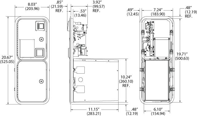 mei bill acceptor wiring diagram Download-Over Under Upstacker Validator Door without Validator 40 7000 00 Dimensional 4-d