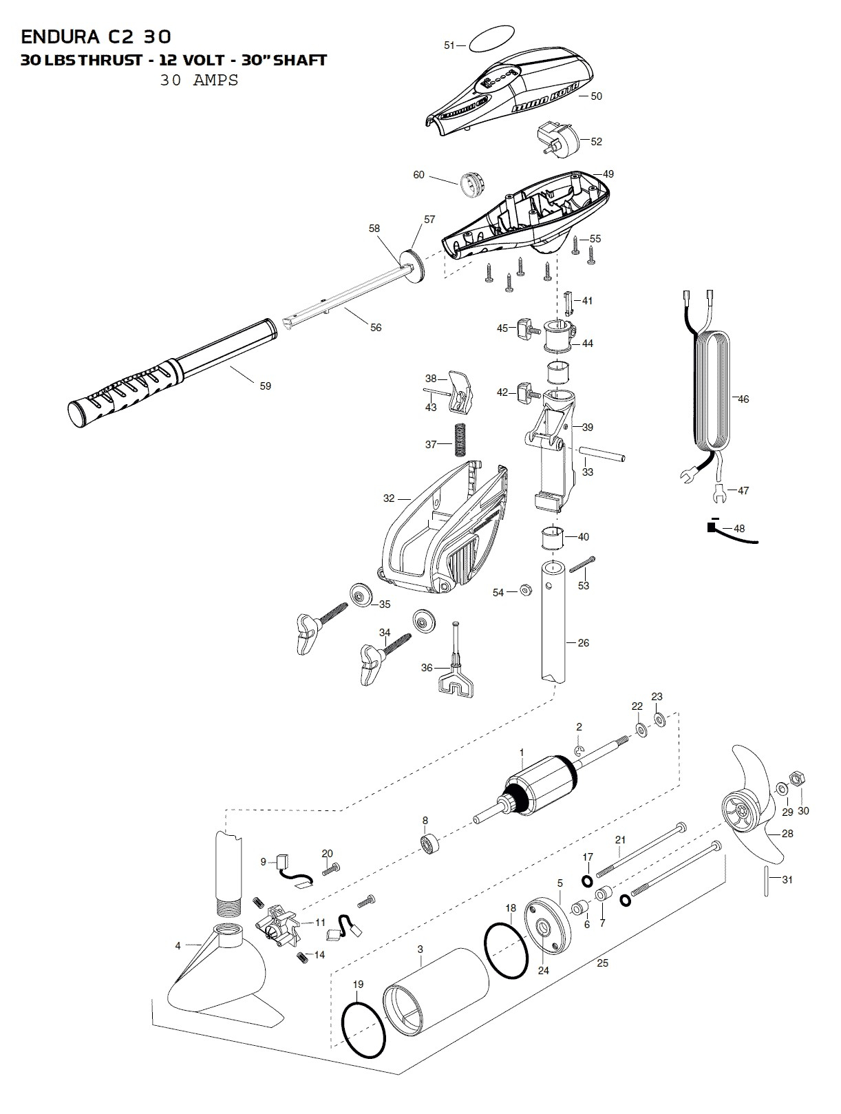 minn kota wiring diagram manual Collection-minn kota wiring diagram manual inspirational minn kota endura c2 30 parts 2015 from fish307 of minn kota wiring diagram manual 14-f