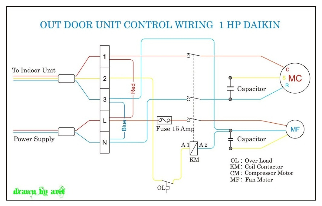 Mitsubishi Mini Split System Wiring Diagram - Split System Air Conditioner Wiring Diagram Mini thermostat Daikin Outdoor Mitsubishi All Concept though 17g
