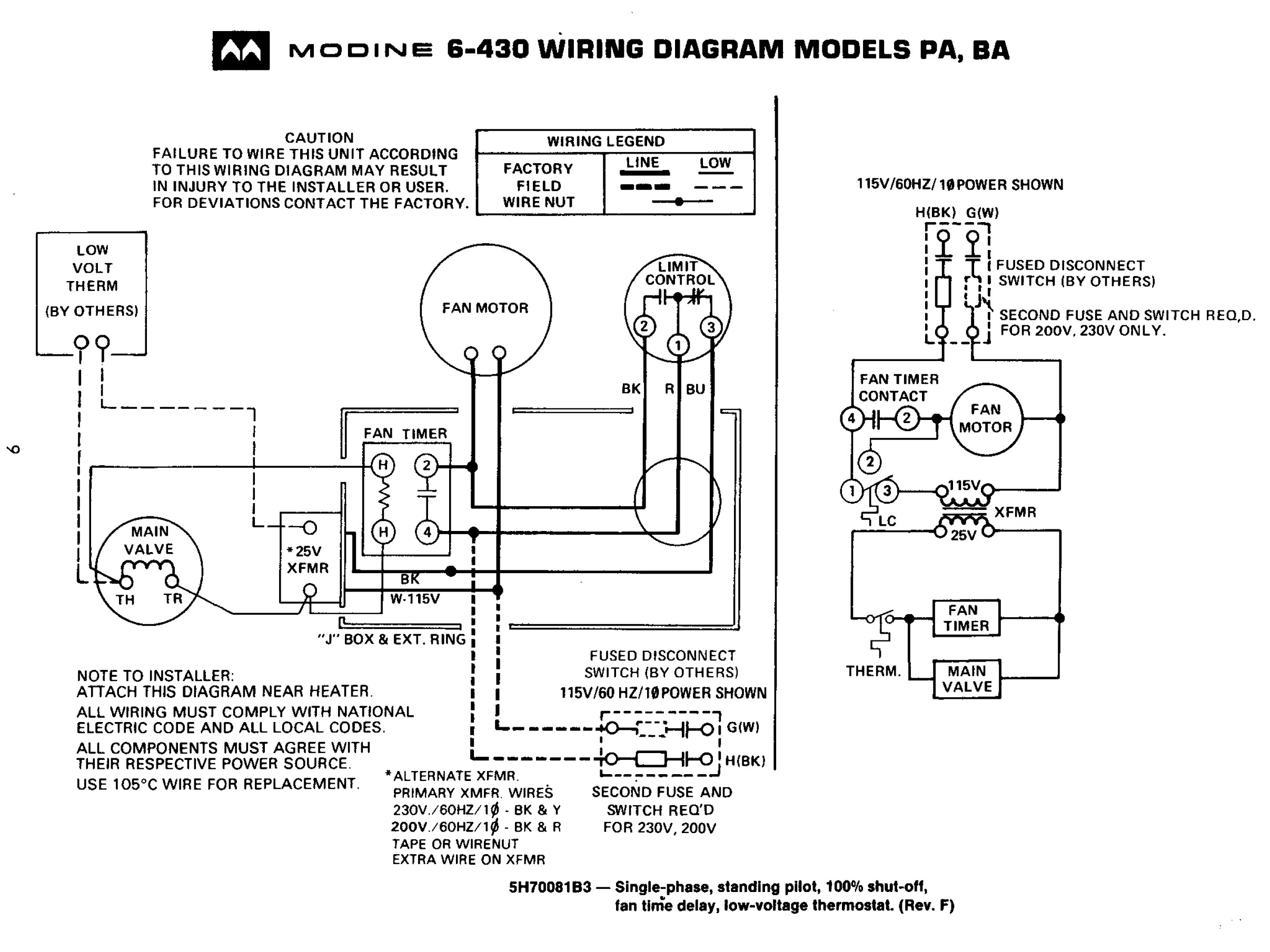 modine unit heater wiring diagram Download-Furnace Wiring Diagram And Modine 18-m