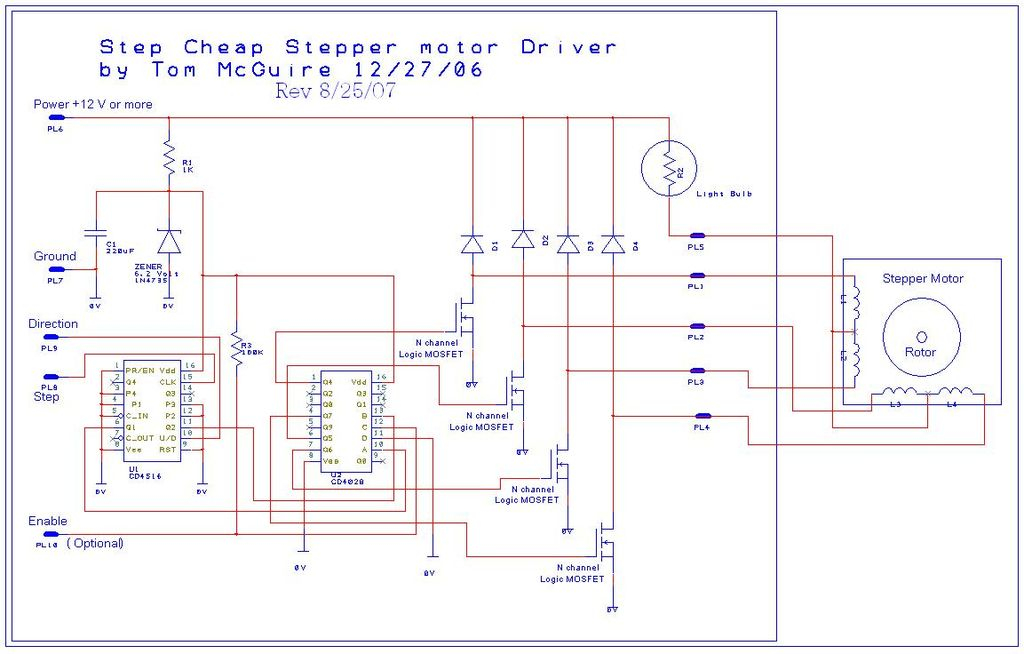 motor control panel wiring diagram Download-Introduction Easy to Build CNC Mill Stepper Motor and Driver Circuits 5-k