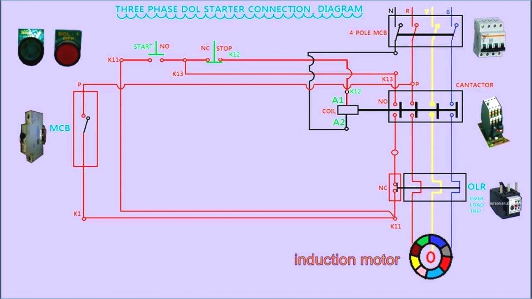 motor starter wiring diagram pdf Download-Starter Motor Wiring Circuit Diagram Pdf Terminals Control Relay 3 14-m