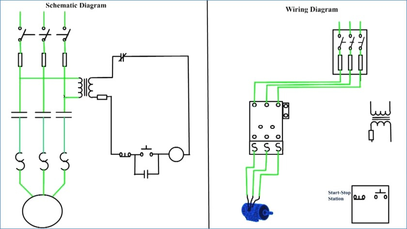 motor starter wiring diagram start stop Download-Hand f Auto Wiring Diagram ponent Motor Starter Circuit 12-h