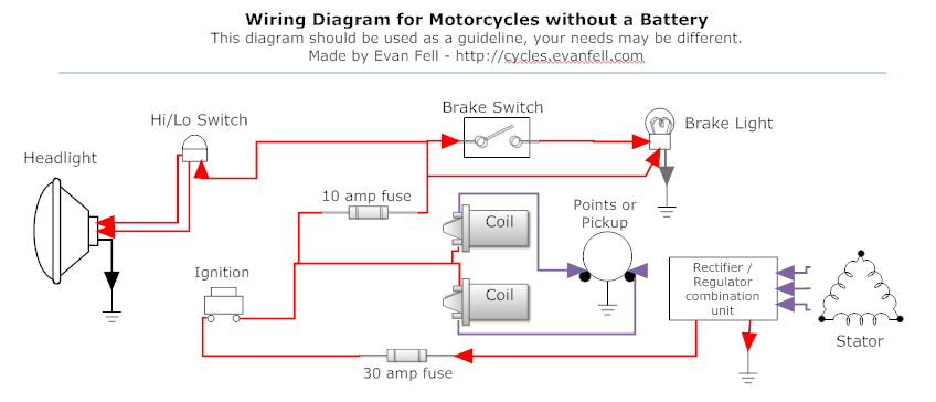 motorcycle headlight wiring diagram Download-Beautiful Motorcycle Wiring Diagram Awesome Simple Motorcycle Wiring Diagram For Choppers And Cafe Racers Ideas Hi 10-i