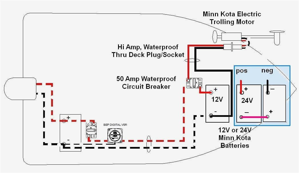 Wiring Diagram 12 24 Volt Trolling Motor : How to wire a trolling motor the batteries impremedia
