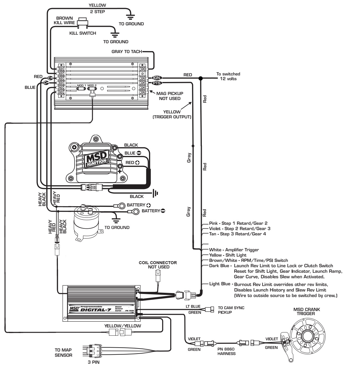 msd distributors wiring diagrams dodge wire data schema