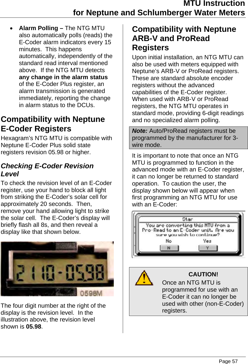 neptune water meter wiring diagram Download-Page 57 of TRANSMITTER FOR METER READING User Manual Installation Instructions Aclara Technologies LLC 2-a