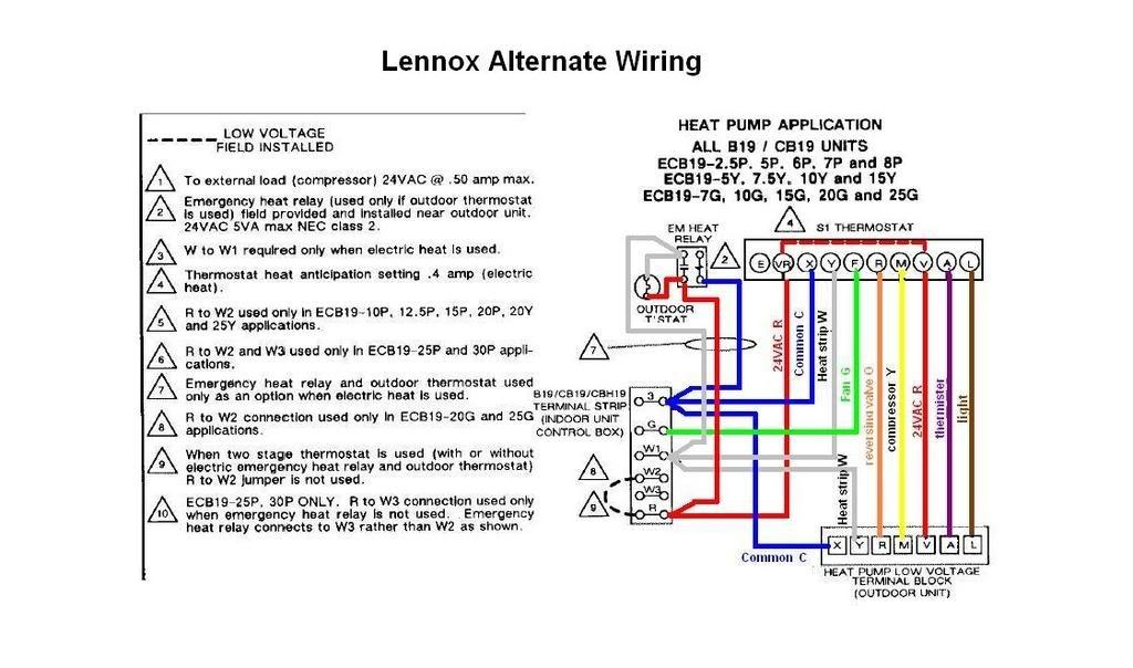 Lennox Heat Pump Wiring Diagram Thermostat - Custom Wiring Diagram •