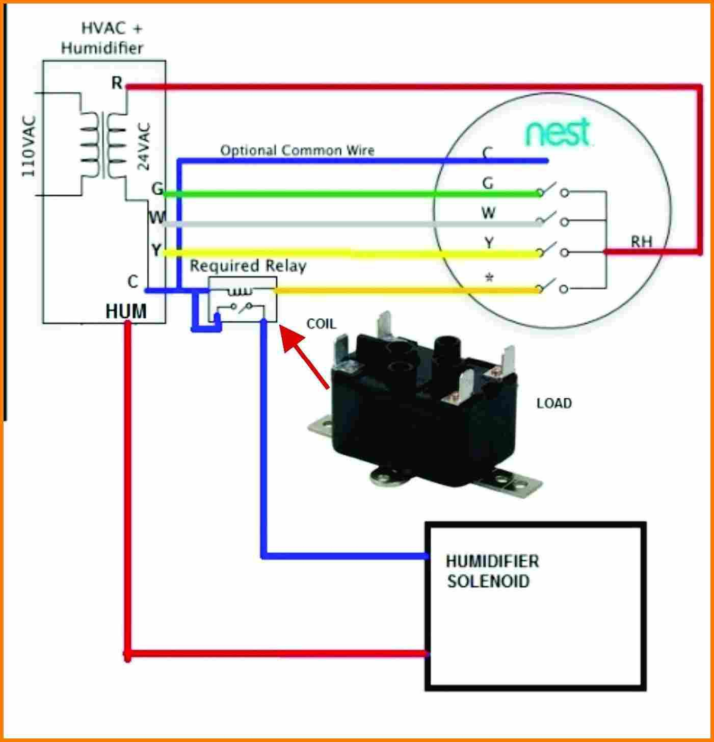 nest thermostat humidifier wiring diagram Collection-Nest Thermostat Wiring Diagram Beautiful Furnace Within 6-h