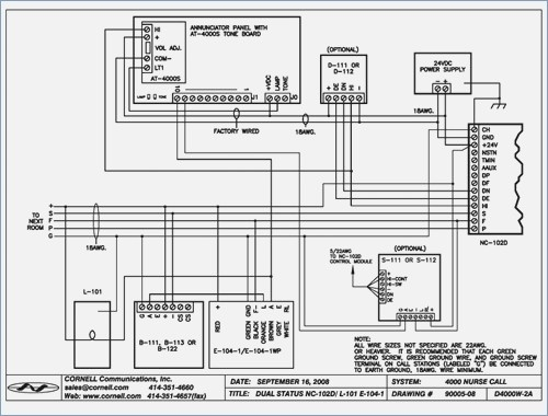 nurse call system wiring diagram collection