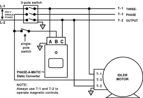 phase converter wiring diagram Download-Static Converter and idler motor with isolation switch 1-m