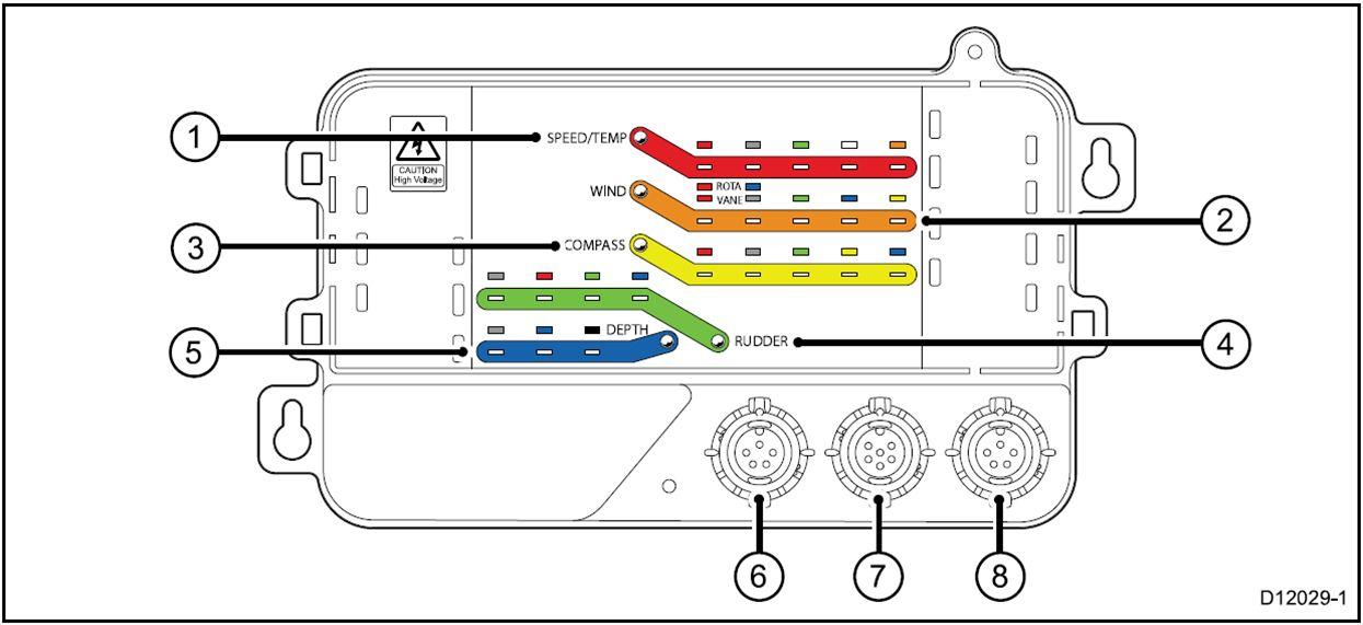 raymarine seatalk wiring diagram Collection-Afbeelding van de aansluitingen van de Raymarine multipod iTC 5 Converter 8-e