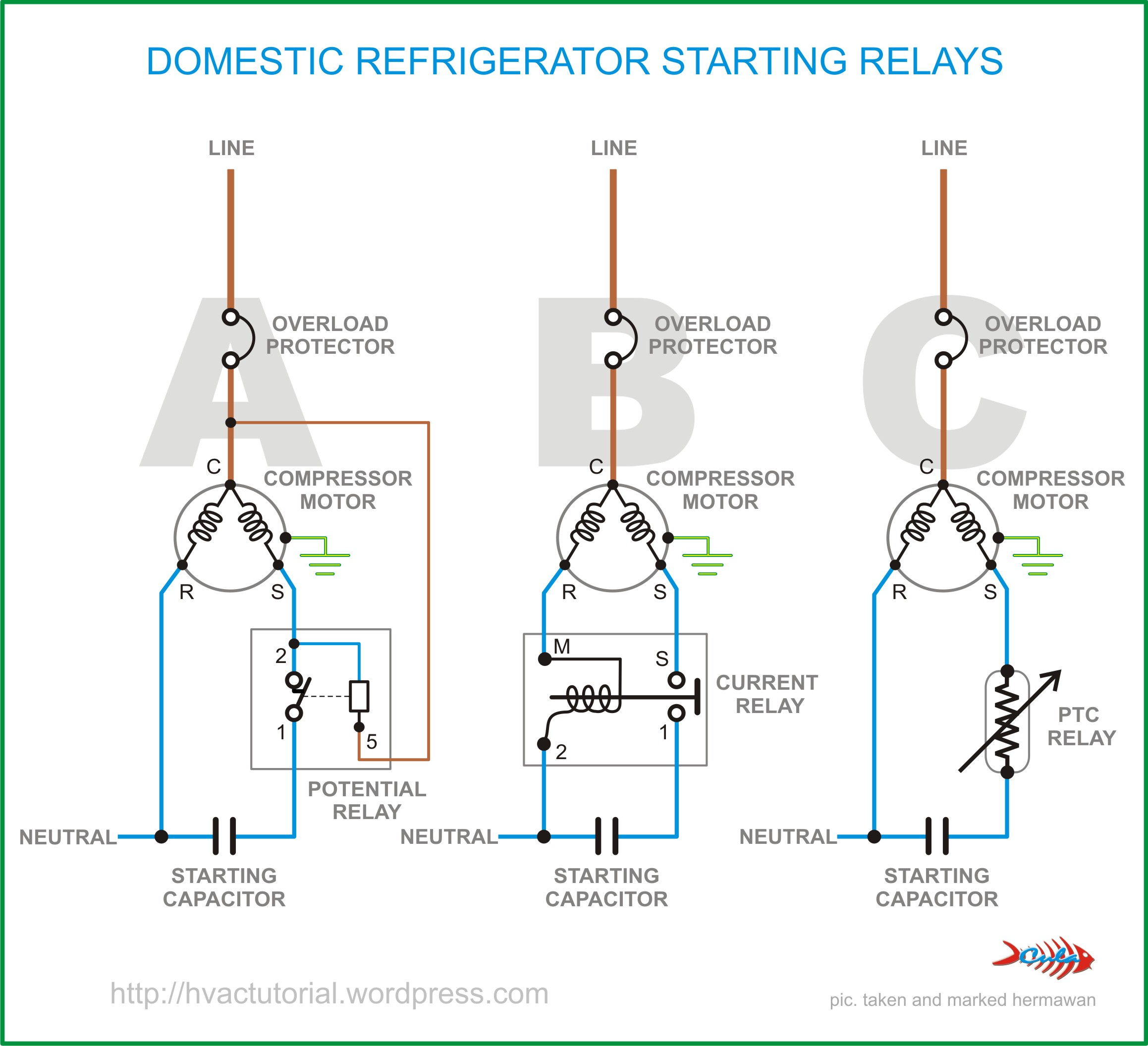 refrigerator compressor start relay diagram schematics wiring rh mrskinnytie com  samsung fridge compressor wiring diagram
