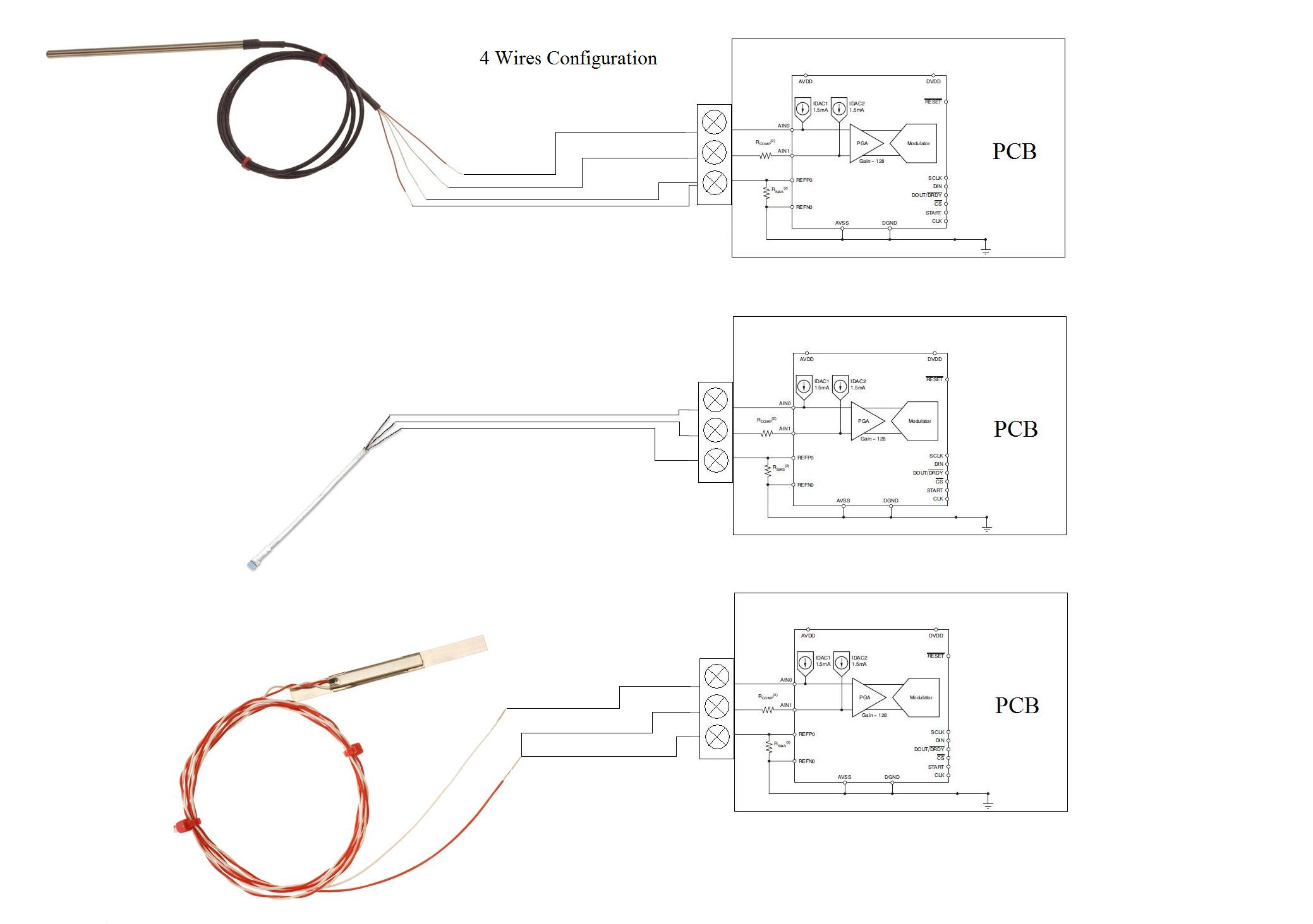 pt100 4 wire connection diagram rs485 4 wire connection diagram