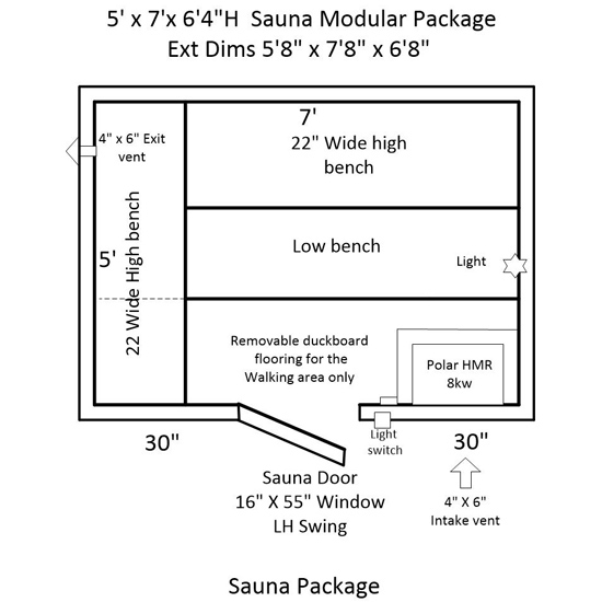 sauna heater wiring diagram Collection-Door ceneter 3 benches 5-l