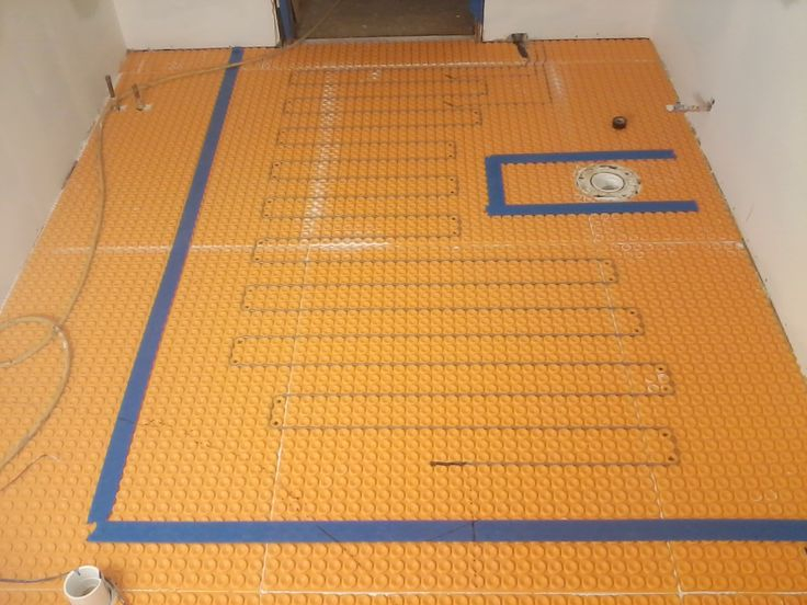 schluter ditra heat wiring diagram Download-Installed a Schluter Ditra Heat floor system in this latest bathroom remodel 8-a