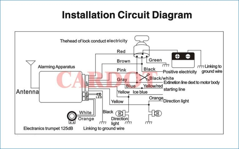 scooter alarm wiring diagram sample
