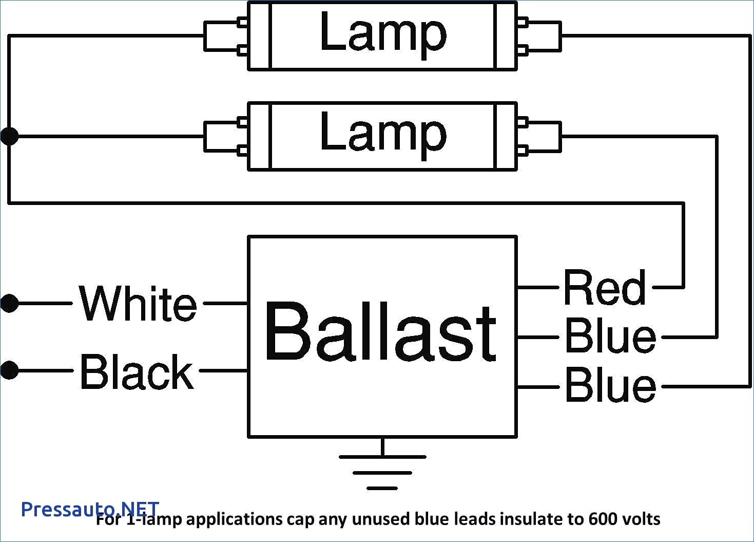 wiring diagram for sign ballast