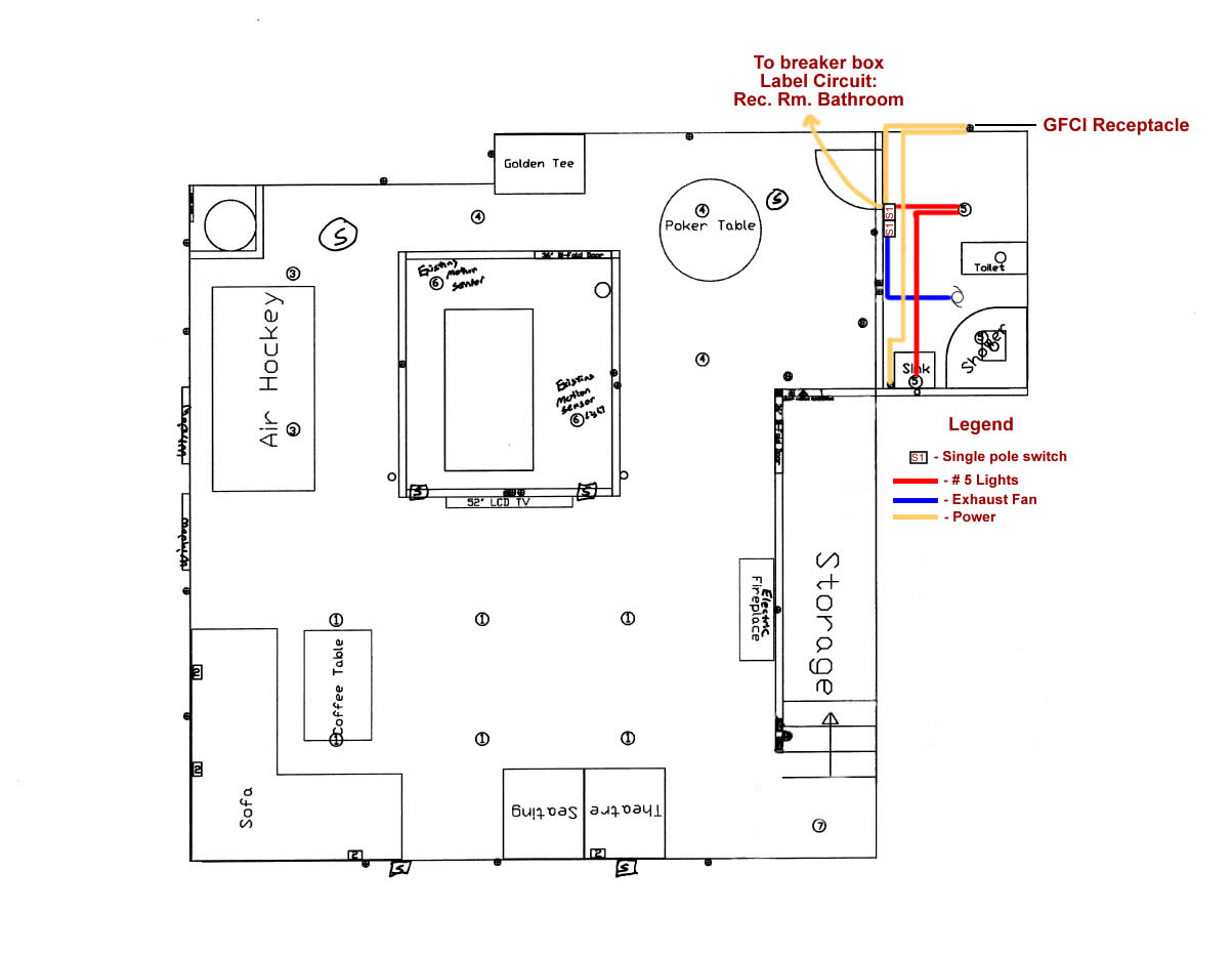 Bathroom Electrical Schematic - Complete Wiring Diagrams •