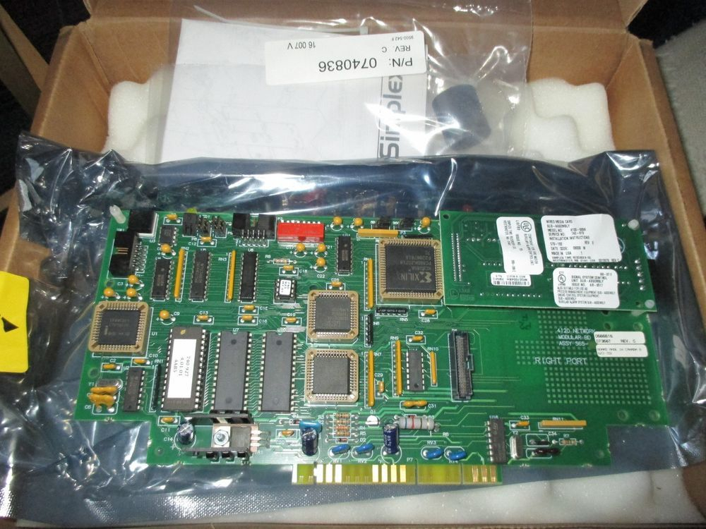 Simplex 4098 9756 Wiring Diagram - New Simplex Wired Network Media Card 4100 6056 742 629 Niob 8o