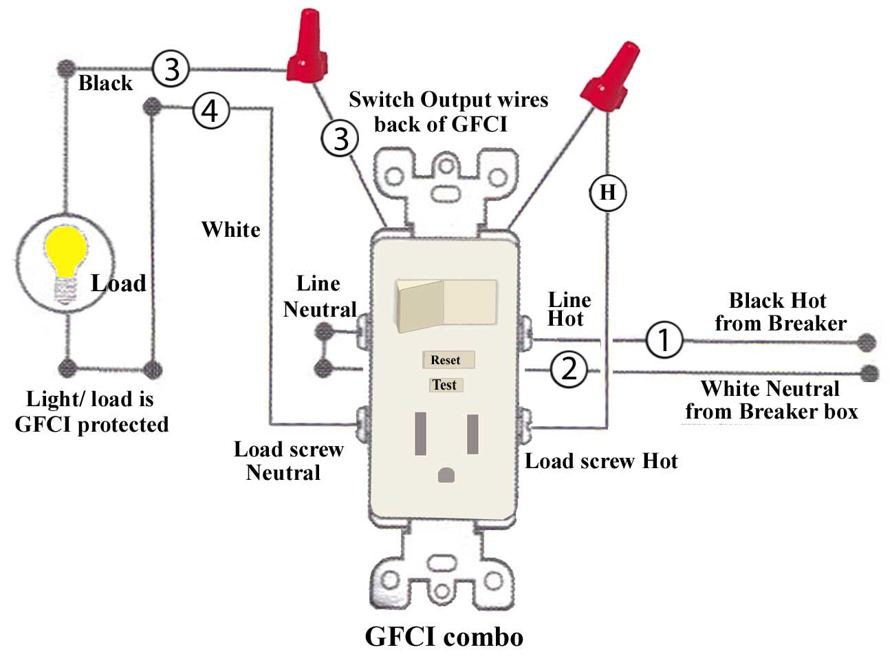 single gfci wiring diagram download