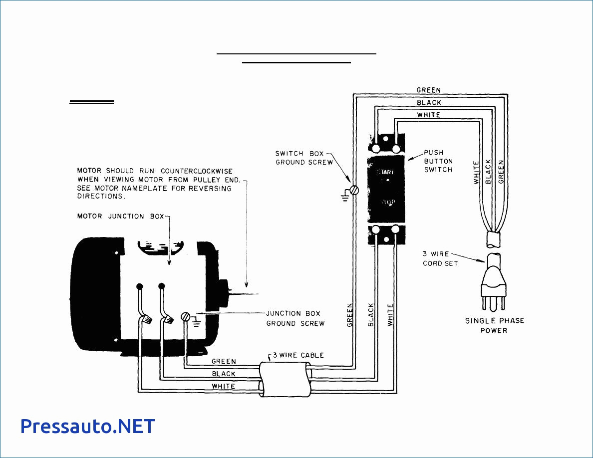 Single Phase Motor Starter Wiring Diagram Pdf Download A