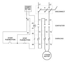 Single Phase Motor Circuit Diagram | Single Phase Motor Starter Wiring Diagram Smart Wiring Diagrams